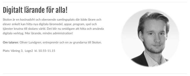 DKC-mässan Skolon Oliver