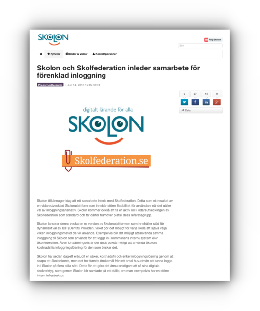 pressrelease skolon skolfederation